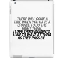 I like to wave at them as they pass by iPad Case/Skin