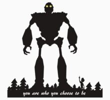 Iron Giant - Choose Who You are Kids Tee