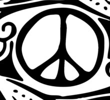 Peace Symbol Love Flower Sticker