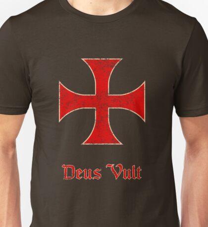 Deus Vult Crusader Templar Cross Unisex T-Shirt