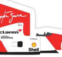 Ayrton Senna's 1992 McLaren MP4/7 Sticker