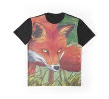 Copic Marker Fox Artwork Graphic T-Shirt