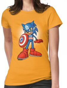 Captain Sonic Womens Fitted T-Shirt