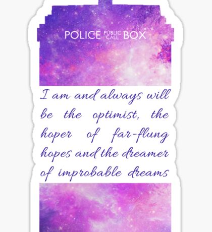 The Optimist - Doctor Who Sticker