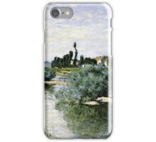 Claude Monet - The Seine At Lavacourt 1880  iPhone Case/Skin