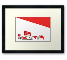 Ayrton Senna's 1992 McLaren MP4/7 Framed Print