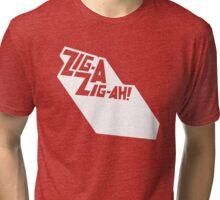 Zig-A-Zig-Ah (White) Tri-blend T-Shirt