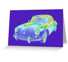1962  Porsche 356 E Pop Image Greeting Card