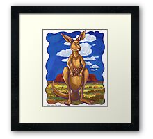 Animal Parade Kangaroo Framed Print