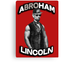 Abroham Lincoln. Abraham lincoln, abolish sleevery. Canvas Print