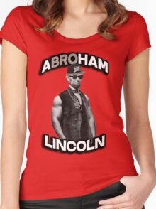 Abroham Lincoln. Abraham lincoln, abolish sleevery. Women's Fitted Scoop T-Shirt