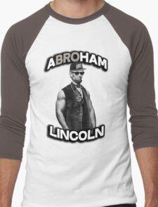 Abroham Lincoln. Abraham lincoln, abolish sleevery. Men's Baseball ¾ T-Shirt