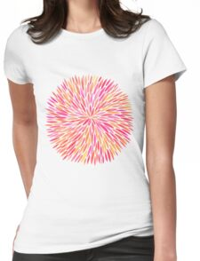 Watercolor Burst – Pink Ombré Womens Fitted T-Shirt