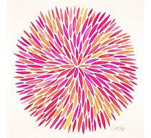 Watercolor Burst – Pink Ombré Photographic Print