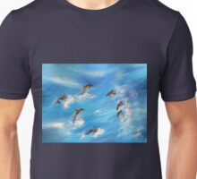 Danc'n Dolphins......Surf's Dolphins Unisex T-Shirt