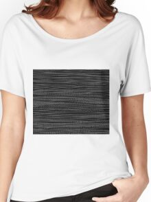 BLACK BEADS Women's Relaxed Fit T-Shirt
