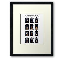 8-bit Doctor Who Framed Print