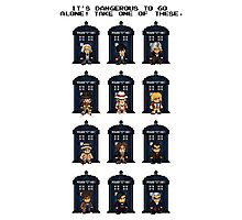 8-bit Doctor Who Photographic Print