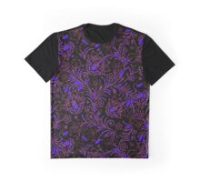 Dark floral contrast Graphic T-Shirt