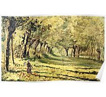 Claude Monet - Woman In The Forest  Poster