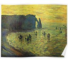 Claude Monet - The Cliffs At Etretat 1886 Poster