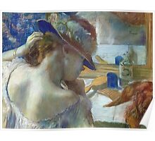 Edgar Degas - In Front Of The Mirror Poster