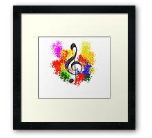 Key of Heart Colour Framed Print