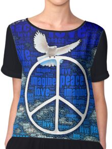 Imagine Peace Chiffon Top