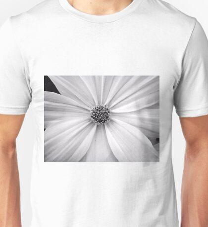 B&W Flower Unisex T-Shirt