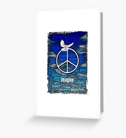 Imagine Peace Greeting Card