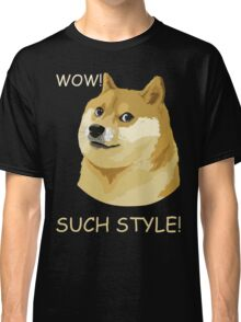 WOW! SUCH STYLE! Funny Doge Meme Shiba Inu T Shirt Classic T-Shirt