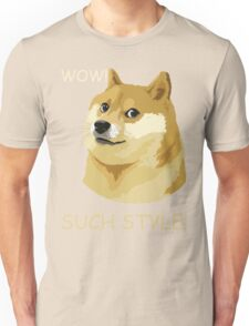 WOW! SUCH STYLE! Funny Doge Meme Shiba Inu T Shirt Unisex T-Shirt