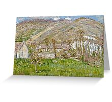 Claude Monet - Hamlet On The Cliffs Near Giverny  Greeting Card