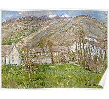 Claude Monet - Hamlet On The Cliffs Near Giverny  Poster