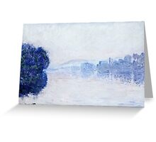 Claude Monet - The Seine Near Vernon, As Seen In The Morning 1894  Greeting Card