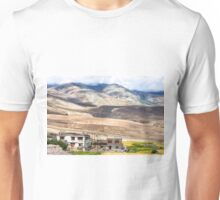 Mountain landscape near Rumste village in Ladakh region, India Unisex T-Shirt