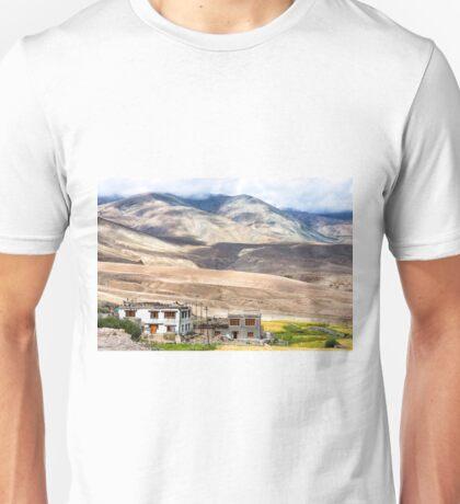 Mountain landscape near Rumste village in Ladakh region, India Unisex T-Shirt