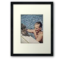 Citizen's Pool Toy Framed Print