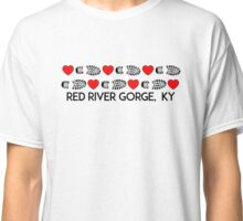 HIKING RED RIVER GORGE I LOVE TO HIKE HIKER HEARTS BOOTS KENTUCKY Classic T-Shirt