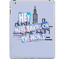 TAKING ON THE WORLD iPad Case/Skin