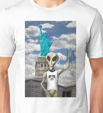 Alien Vacation - New York City Unisex T-Shirt