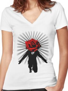 Showtime! Women's Fitted V-Neck T-Shirt