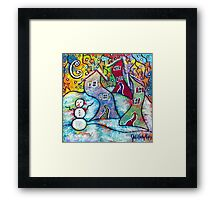 Wonderfully Wacky Winter Framed Print