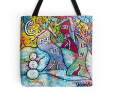 Wonderfully Wacky Winter Tote Bag