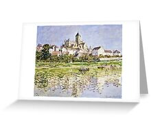 Claude Monet - The Church At Vetheuil 1880  Greeting Card