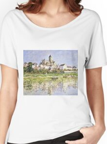 Claude Monet - The Church At Vetheuil 1880  Women's Relaxed Fit T-Shirt