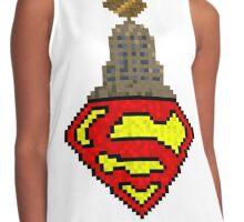 Daily Planet Superman Pixel Art Contrast Tank