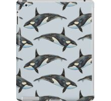 Orca on blue iPad Case/Skin