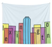 Colorful Lexington Skyline Wall Tapestry