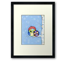 Owl in a Little Red Beret Framed Print